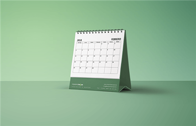 Calendarios de sobremesa personalizados con base flexible hasta 250ud
